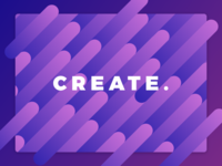 Create. design minimal bright colorful