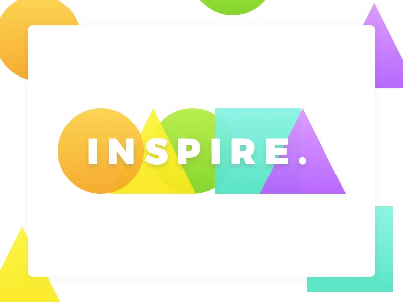 Inspire. colorful bright minimal design