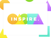 Inspire. colorful bright minimal design