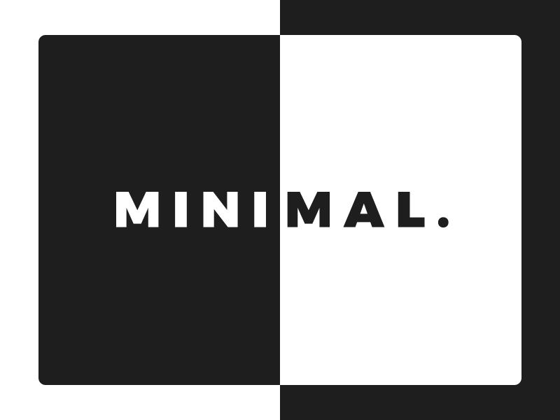 Minimal. poster minimal design