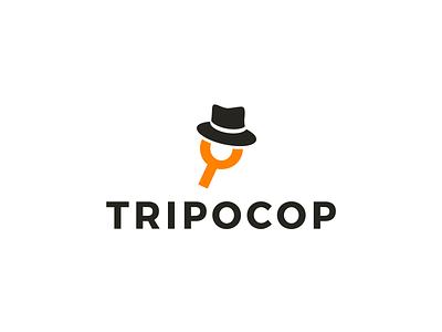 Tripocop seriff har magnifier magnify glass orange cop trip