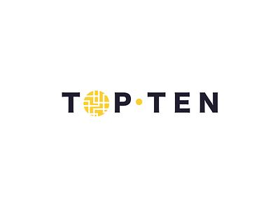 Top Ten luxury logo type logotype icon brand branding logo typogaphy yellow maze gold tent top
