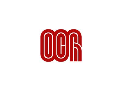 OCR ocr logotype icon branding lineart hand fist sport monogram line monoline