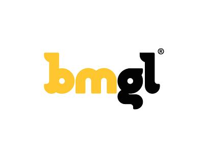 BMGL logo design custom lettering custom type customtype lettering letter black yellow construction