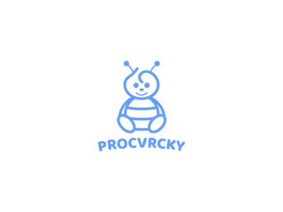 Procvrcky baby animal insekt cricket clothing branding brand logo