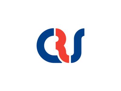 Crs monoline rounded circle blue red logotype branding brand logo