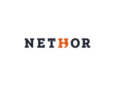 Nethor typography hammer wood logotype logo design logo branding brand