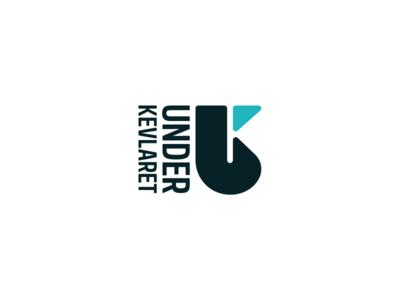 Under Kevlaret mono line golden gold m mark icon logo type logo design logo branding brand