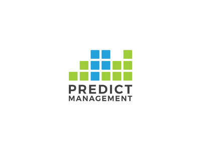 Predict Management management prediction mark icon logo type logo design logo branding brand