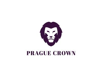 Lion crown luxury prague lion brand branding logo