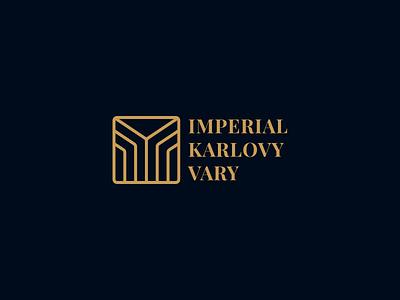 Imperial Karlovy Vary logo design luxury hotel branding brand logo