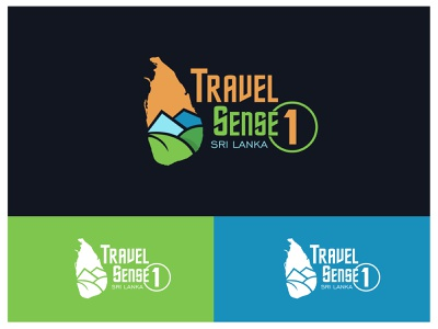 Travel Sense Logo Concept Design 2d srilankan logodesign flat branding concept minimalist vector illustration design art