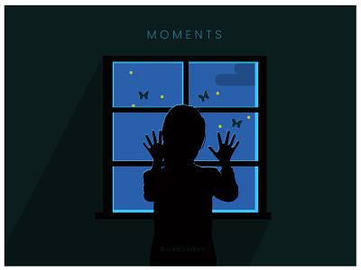 Girl by Window window girl cartoon srilankan iconic flat 2d concept minimalist vector illustration design art