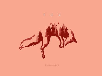 FOX - Minimalist Concept Design logo fox concept 2d minimalist illustration design art