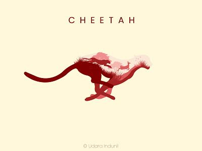 CHEETAH - Minimalist Concept Art flat cartoon iconic concept vector minimalist illustration design art