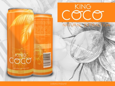 King COCO - Package Design coconut package package mockup brand identity can design package design king coconut ui branding concept design