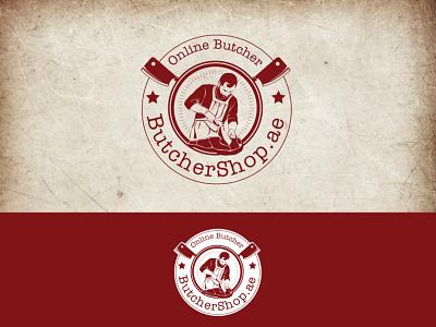 Butchershop - Vintage Logo online butcher butcher logo branding concept retro vintage branding iconic flat 2d minimalist concept vector illustration design art