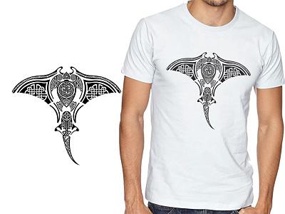 Mantra Ray Viking Knot Style T-shirt Design print design tattoo art viking celtic fish mantra ray tshirt art tshirtdesign flat minimalist vector illustration design