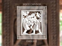 Wood Carving Design - Embekke Sri Lanka