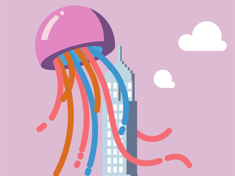 Jellyfish branding illustration
