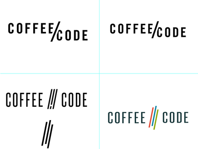 Coffee & Code logo concepts