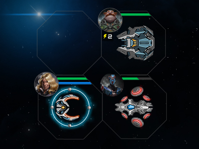 Fleets in combat grid