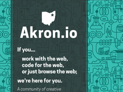 Akron.io leave behind card