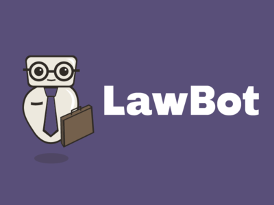 LawBot logo on purple