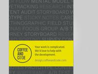 Marketing handout for design/ux