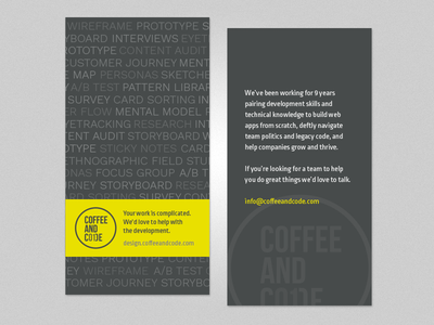 Marketing flyer - front and back view