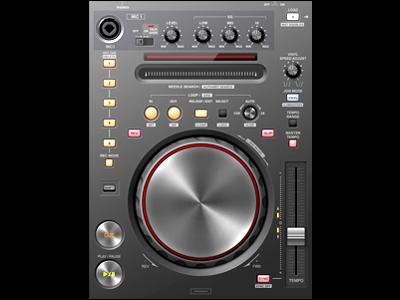 Ui10dribbble user interface buttons knob audio dj slider pioneer ipad