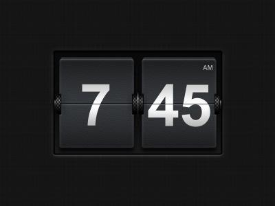 Flip Clock flip card clock hour time dark ui ux
