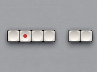 TG 60 Plastic White Buttons