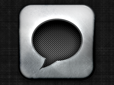 Chat-Mic Icon icon chat mic metal texture microphone mesh