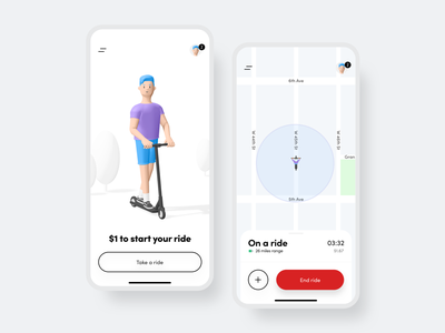 Ride Mobile App mobile app map scooter ride