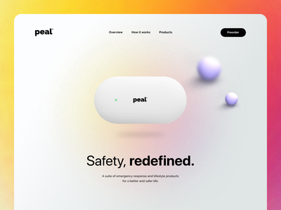 A Human-focused smart-home and safety startup website
