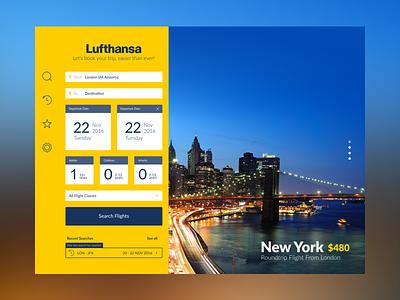 Lufthansa iPAD UX/UI Design (Teaser) design tablet flights app travel gui ux ui ipad airline lufthansa