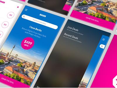 Travel Deals APP - (TEASER) iphone gui design ui ux deals travel app