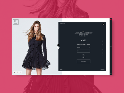 Access Fashion - Product Page Teaser Screen glam ux ui web design access fashion ecommerce blog fashion