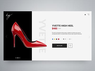 Giuseppe Zanotti - Product Page (Teaser Screen) brand luxurious laxury ux ui web design eccomerce product page fashion shoes giuseppe zanotti