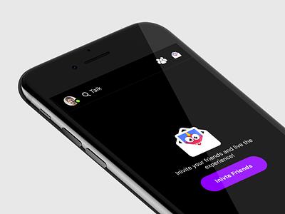 Social group video messenger - Teaser video talk invitation invite messenger chat social app group video