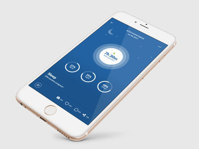 Sleep Tracker ui ux user experience graph medical mobile sleep health healthcare app dashboard