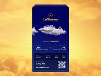 Lufthansa - Boarding Pass (Teaser Screen)