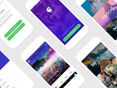 Social Local APP - Teaser ui ux android ios local invite events best app social