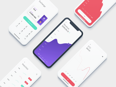 Cryptocurrency iOS App [Teaser] statistics infographic trending ui ux app ios fintech finance cryptocurrency