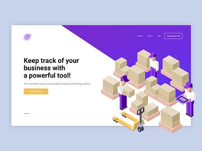 Tech Startup ui ux webpage startup tech illustration landing page
