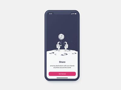 Travel & lifestyle app [Onboarding Teaser] foursquare tripadvisor fresh ui design ux ios social travel app