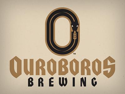 ouroboros wheat branding animal design vector logo o ouroboros snake home brew brewing beer