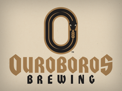 ouroboros wheat branding animal design vector logo o ouroboros snake home brew brewing beer