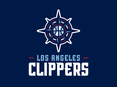 clippers rebrand concpet nba nautical hoops athletics sports los angeles la clippers logo basketball